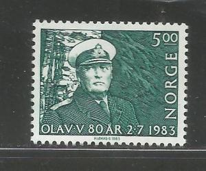 NORWAY, 827, MNH, KING OLAV