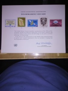 United nations Presentation card from New York 1967-1972