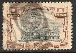 MEXICO 513, $1Peso VERACRUZ LIGHTHOUSE. USED. F-VF.  (366)
