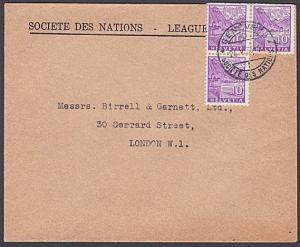 SWITZERLAND 1935 Official cover League of Nations ex Geneva..................331