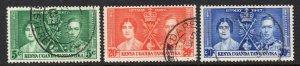 KUT 1937 Coronation set used - Kenya Uganda Tanganyika