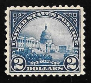 572 2 Dollars U.S. Capitol Blue Stamp mint OG NH EGRADED VF-XF 86