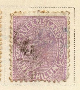 Queensland 1895 Early Issue Fine Used 1S. 326839
