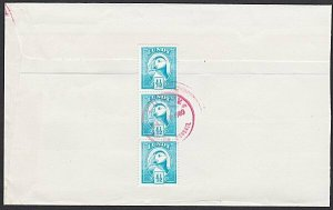 GB LUNDY 1980 cover  - Puffin stamps........................................F898
