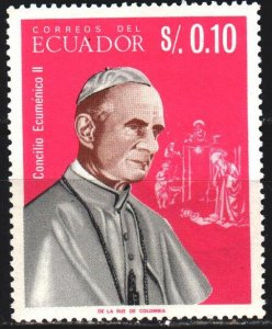 Ecuador. 1966. 1242 from the series. Paul 6, pope. MNH.