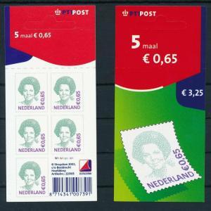 [17344] Netherlands 2002 Queen Beatrix €0,65 PTT Self Adh. Sheet MNH NVPH V2041