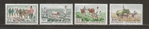 Central African Republic Scott catalogue # 41-44 Unused Hinged