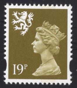 Great Britain Scotland  #SMH63   1993   MNH  Q E II   19p.  Machin syncopated