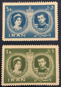 Middle East,worldwide,MNH 1960, Royal Wedding,shah, Farah