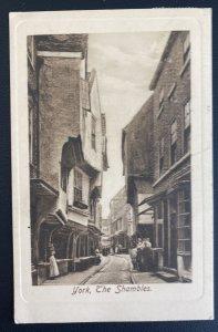 1910 York England RPPC Postcard Cover To Yokohama Japan The Shambles