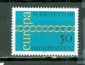 LIECHTENSTEIN 1971 EUROPA  #485  MNH...$0.45
