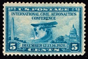 US STAMP #650 – 1928 5c Wright Brothers Airplane MNH