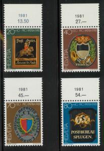 Switzerland B480-B483 Mint VF NH