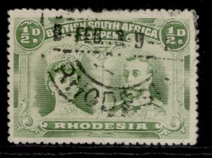 RHODESIA GV SG119, ½d yellow-green, FINE USED.