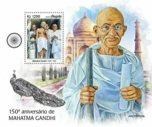 Z08 IMPERF ANG190109b ANGOLA 2019 Mahatma Gandhi MNH ** Postfrisch
