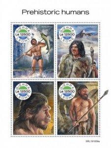 SIERRA LEONE - 2019 - Prehistoric Humans - Perf 4v Sheet - MNH