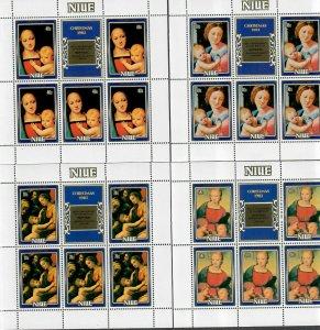 Niue As 395-399 M/NH/VF, Set/5 Sheets/5, Cv. $27.50