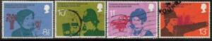Great Britain Sc 777-0 1976 telephone stamps used