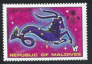 Maldive Islands #503 1l Zodiac Signs & Constellations - Capricorn MNH