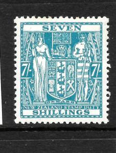 NEW ZEALAND 1931-58  7/-   ARMS   MLH  SG F174