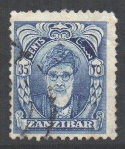 Zanzibar Scott 236 - SG345, 1952 Sultan 35c used