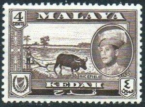 Kedah 1959 4c Ricefield MH