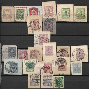 COLLECTION LOT OF 23 GERMANY & BAVARIA CUT SQUARE MOSTLY 19th CENTURY