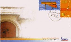 COSTA RICA GUANACASTE MUSICAL INSTRUMENTS Sc 605-6 FDC 2007