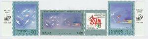 1998 ONU Italia Diritti del'Uomo 4 Valori Nuovi MNH** A20P6F251