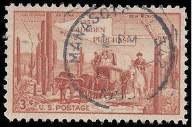 #1028 3c Gadsden Purchase Centenary 1953 Used