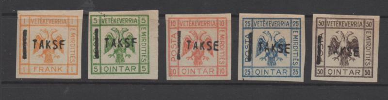 Albania TAKSE overprint and others 11 stamps 1st