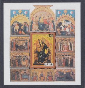 Malta # 1185, Icon of St.Paul, Souvenir Sheet., Mint NH, 1/2 Cat..