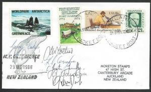 USA NEW ZEALAND GREENPEACE 1986 cover signed MV Greenpeace team............10574