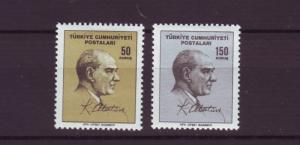 J2087 JLS stamps 1965 turkey hv,s set #1693-4 $2.85v