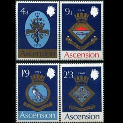 ASCENSION 1969 - Scott# 126-9 Naval Arms Set of 4 LH