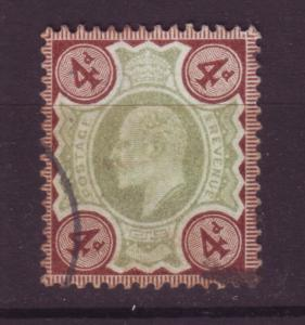 J19695 Jlstamps 1902-11 great britain used #133 king