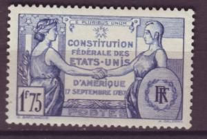 J15191 JLstamps 1937 franceset of 1 mh #322 france/usa