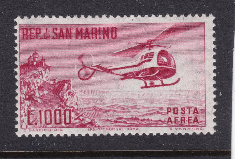 San Marino an UHM Air stamp from 1961