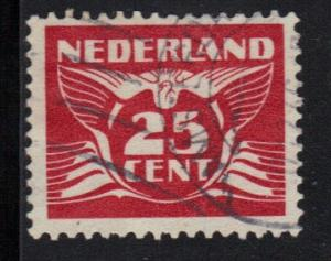 Netherlands 1941 used  flying pigeon 25 ct   #