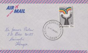 Australia 75c Commonwealth Day 1983 Koolunga, SA-5464 Airmail to Nairobi, Kenya.