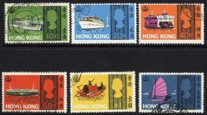 Hong Kong SG247/52 Set of 6 Fine Used Cat 25 pounds