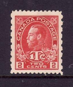 Canada-Sc#MR5-Unused 2c + 1c carmine war tax -KGV-og-hinged-1916-Cdn744 -