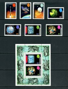 Dominica 1973 Sc#354/360a SPACE-INTERNATIONAL METEOROLOGICAL CENT Set +S/S MNH