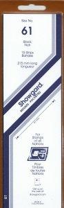 SHOWGARD 215/61 (15) BLACK MOUNTS RETAIL PRICE $9.75