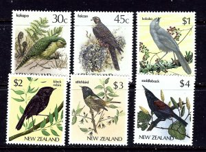 New Zealand 766-70A MNH 1985-89 Birds