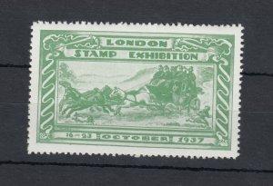 GB 1937 London Stamp Exhibition Cinderella MNH J8971