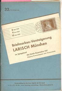 Larish: Sale # 32  -  32. Versteigerung, A. Larish-Munche...