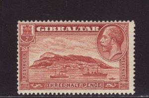 1931 Gibraltar 1½d Perf 13½ x 14 Mounted Mint SG111a