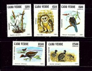 Cape Verde 436-40 MNH 1981 Birds set