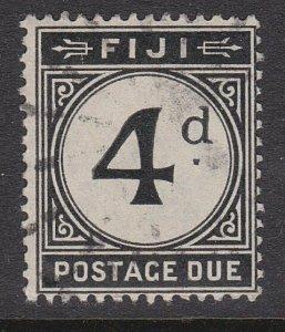 FIJI POSTAGE DUE 1918 4d fine used - scarce used...........................54893